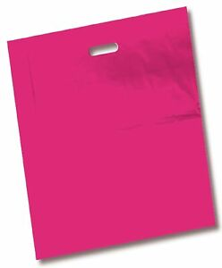 100 Pack 16 X 18 With 2 Mil Thick Extra Large Pink Merchandise Plastic Glos