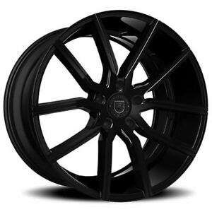 4ea 24 Lexani Wheels Gravity Gloss Black Rims s8