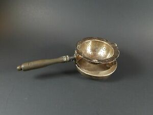 Antique Vintage 950 Sterling Silver Swivel Tea Strainer Unusual Design
