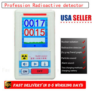 Digital Geiger Counter Nuclear Radiation Detector Beta Gamma X ray Tester Meter