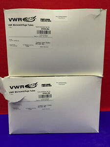 2 Packages For A Total Of 1000 Tubes Vwr 87003 294 Microcentrifuge Tubes