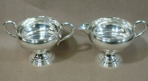 Empire Sterling Silver 4 Oz Creamer Sugar Bowl Set 22 Trophy Style 156g