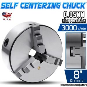 High Quality 8 3 Jaw Self Centering Plain Back Lathe Chuck Reversible 0039 Us