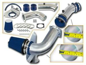 Cold Air Intake Kit For 99 04 Ford Mustang 3 8l V6 Blue Filter Aluminum