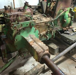 John Deere 4010 Tractor Rear End With Axles Transmission