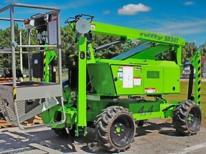 Nifty Sd34t 40 Boom Lift 4wd only 4100lbs hybrid dual Power diesel