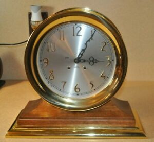 Chelsea S Ships Bell Clock 8 Dial Excellent Condition