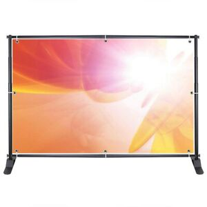 Telescopic Banner Stand Step Repeat Backdrop Wall Exhibitor Expanding Display