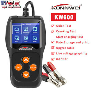 Konnwei Kw600 Car Battery Tester 12v Digital Auto Battery Analyzer Up To 2000cca