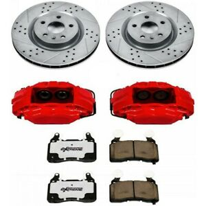 Kc152 26 Powerstop Brake Disc And Caliper Kits 2 wheel Set Front For Q45 M45