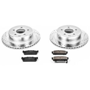 K5032 Powerstop Brake Disc And Pad Kits 2 wheel Set Rear New For Infiniti Q45