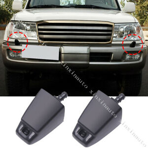 Front Bumper Headlight Cleaning Spray Nozzle For Toyota Land Cruiser 100 1998 07