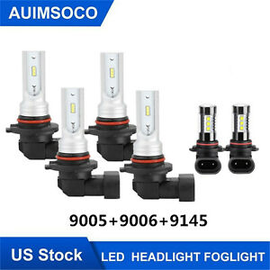 For 2003 2006 Chevrolet Silverado 1500 Car Led Headlight Bulb 9005 9006 9145 Kit