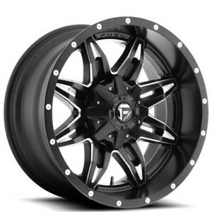4ea 18 Fuel Wheels D567 Lethal Black Milled Off Road Rims S9