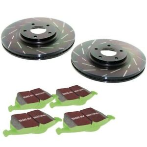 S2kf1071 Ebc 2 wheel Set Brake Disc And Pad Kits Front New For Ford Mustang