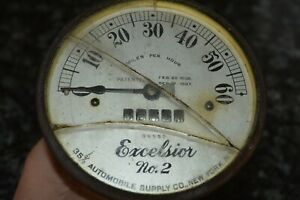 Vintage Excelsior No 2 35 Automobile Supply Co Ny Speedometer Odometer Rare