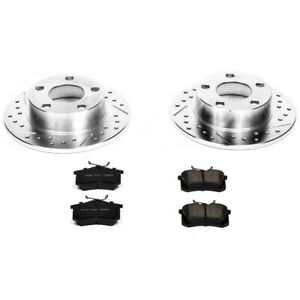 K849 Powerstop Brake Disc And Pad Kits 2 wheel Set Rear New For Audi A6 Quattro