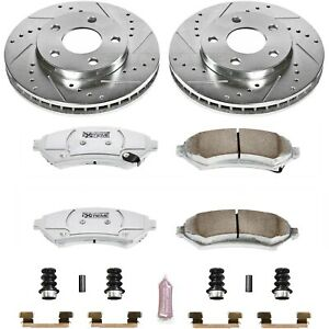 K2553 26 Powerstop 2 wheel Set Brake Disc And Pad Kits Front New For Chevy Olds