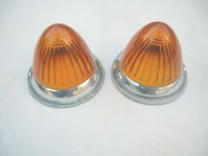 Borgward Isabella Front Turn Signal Amber Lens Set New