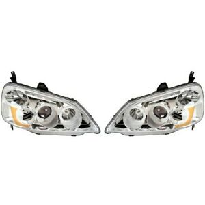 121336 Anzo Headlight Lamp Driver Passenger Side New For 323 325 328 330 Coupe