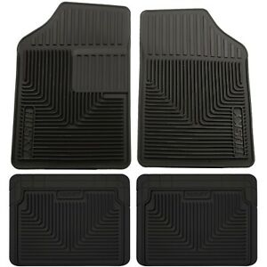 Set H2151051 4 Husky Liners Floor Mats Set Of 4 Front New Black For Chevy 300