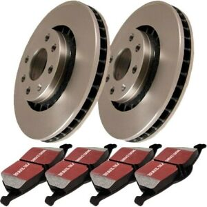 S1kr1177 Ebc 2 wheel Set Brake Disc And Pad Kits Rear New For Ford Mustang 94 04
