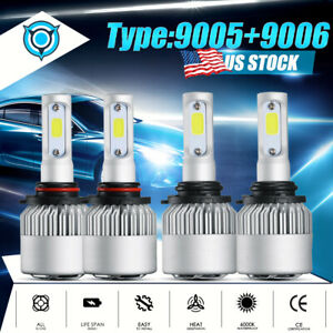 4x Led Headlight Bulbs For Chevy Pickup Truck 1500 2500 3500 1990 2000 High Low
