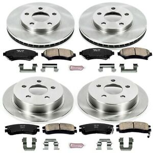 Koe2554 Powerstop 4 wheel Set Brake Disc And Pad Kits Front Rear New For Olds