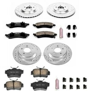 K1305 Powerstop 4 Wheel Set Brake Disc And Pad Kits Front Rear New For Mustang
