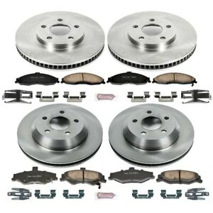 Koe1548 Powerstop 4 Wheel Set Brake Disc And Pad Kits Front Rear New For Chevy