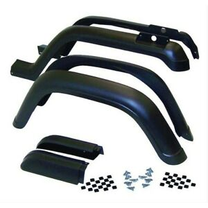 5ahk6 Fender Flares Set Of 4 Front Rear New Black For Jeep Wrangler 1987 1995