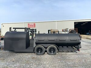 Bbq Trailer Grill Smoker 2 5 Rotisseries And 5 Flat Grill