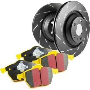 S9kr1199 Ebc 2 wheel Set Brake Disc And Pad Kits Rear New For Ford Mustang 87 93