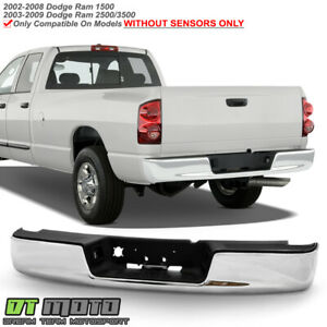 2002 2008 Dodge Ram 1500 03 09 2500 3500 Chrome Complete Rear Bumper Assembly