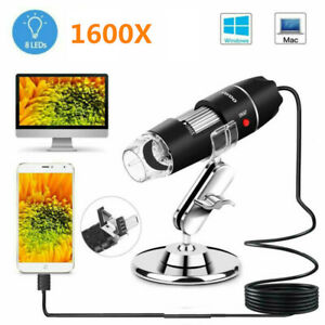 1600x 3 In1 Usb Digital Microscope For Electronic Accessories Coin Inspection