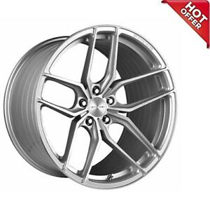4ea 18 Staggered Stance Wheels Sf03 Brush Silver Rims s6