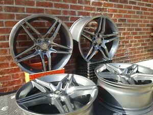 20 2013 Mustang Wheels 20x9 20x10 Staggered Gunmetal 5x114 3 Brand New