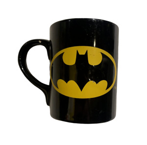 Batman Coffee Mug Vintage 1999 Black Yellow DC Comics Superhero