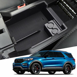 Fit For 2013 17 Ford Explorer Armrest Storage Glove Box Center Console Tray Bin