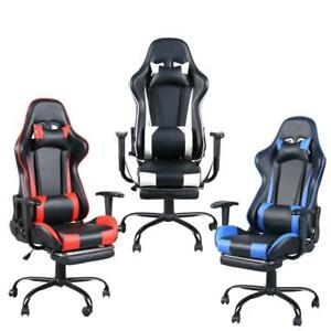 Computer Gaming Chair High back Swivel Chairs Racing Style Leather Office Gamer