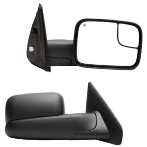 Power Heated Towing Mirrors Glass Left Right For 02 08 Dodge Ram 1500 2500 3500