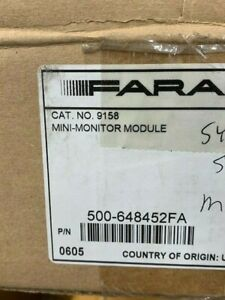 New Faraday 9158 P n 500 648452fa Mini Monitoring Mod 9 Avail Free Ship n