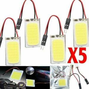 5pcs New White 48 Smd Cob Led T10 4w 12v Car Interior Panel Light Dome Lamp Bulb
