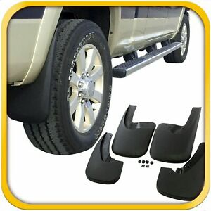 Fits Dodge Ram 1500 Mud Flaps 09 18 Mud Guard Splash Flares 4 Piece Front Rear