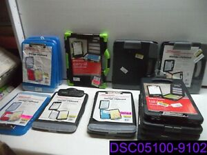 Minor Defects Qty 15 Mix Lot Of Storage Clipboards Green Blue Black