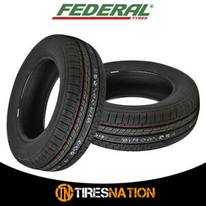 2 New Federal Ss 657 165 80r15 87t Tires