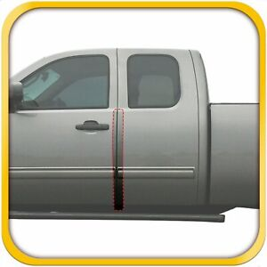 07 13 Fits Chevy Silverado Extended Cab Invisible Door Edge Guards Clear