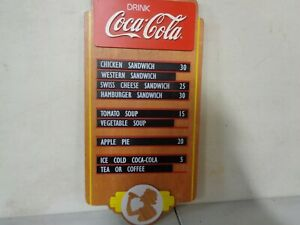 2011 Coca Cola Menu Board