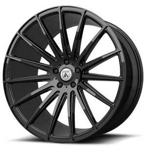4ea 20 Staggered Asanti Wheels Abl 14 Polaris Gloss Black Rims s8