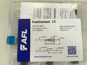 Fiber Optic Fuseconnect Lc Splice on Connector Mm Om1 2mm Boot 6 pack